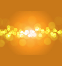 abstract orange yellow light bokeh blur vector image