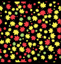 autumnal maple leaves seamless pattern vector image