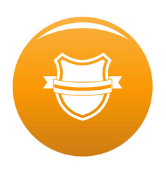 badge retro icon orange vector image