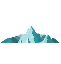beautiful mountain landscape isolated on a white vector image