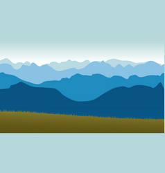 Beautiful panoramic view of the blue mountains vector