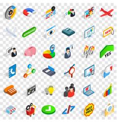 Best price icons set isometric style vector