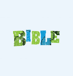 Bible concept stamped word art vector