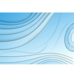 Blue wave - abstract banner vector image