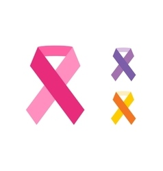 Breast cancer ribbon on white background vector image