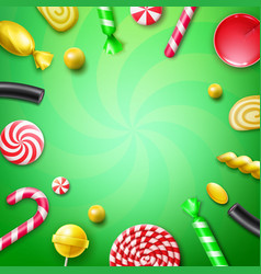 Candy flat lay vector