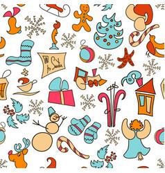 christmas icons christmas set poster 2017 vector image