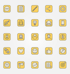 Colorful blog icons collection vector