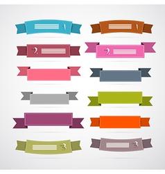 Colorful Retro Ribbons Labels Set vector image