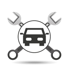concept repair car tools icons vector image vector image