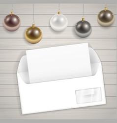 Congratulatory christmas envelope vector