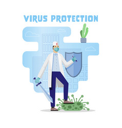 Corona virus protection vector