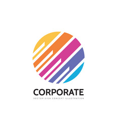 corporate - concept business logo template vector image