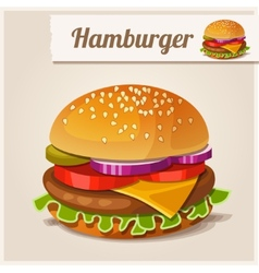 Detailed Icon Hamburger vector