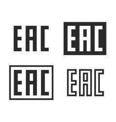 eac mark symbol set vector image