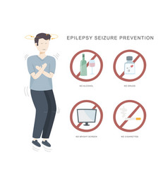 Epilepsy seizure pervention of man vector