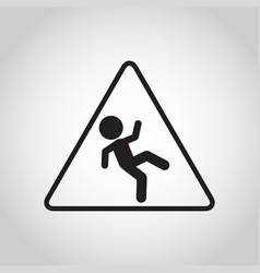 Falls prevention logo icon vector
