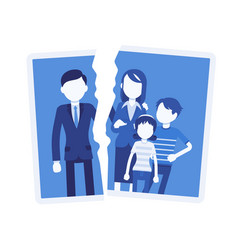 family breakup problem vector image