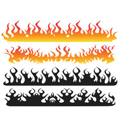 fire flame background vector image