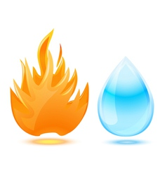 fire water vector image