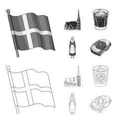 Flag national symbol and other web icon in vector