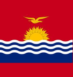Flag state kiribati flat style vector