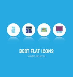 Flat icon window set of clean glazing frame and vector