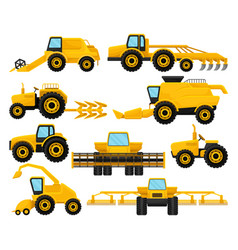 flat set of different agricultural vector image