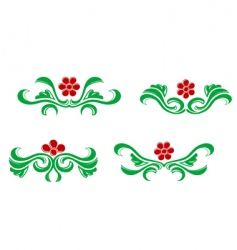 flourishes decorations vector image