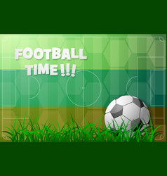 Football theme with russian flag vector