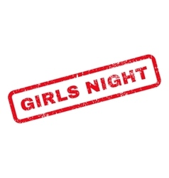 Girls Night Text Rubber Stamp vector