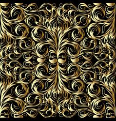 gold damask seamless pattern vector image