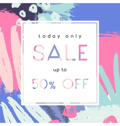Hand Drawn Sale Poster Design vector