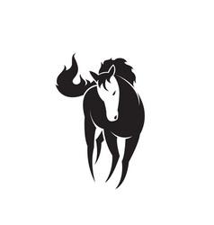 horse design on white background easy editable vector image