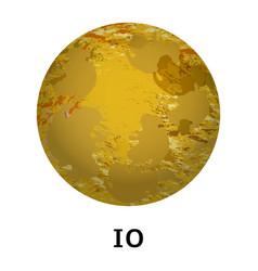 Io planet icon realistic style vector