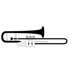 Isolated trombone icon musical instrument vector