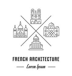 Line Banner France vector image