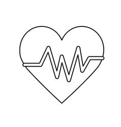 Line heartbeat element to know cardiac rhythm vector
