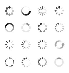loading indicator icon set download symbol vector image