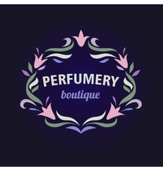 logo with a vignette of flowers Aromatherapy vector image