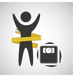 Lose weight concept weight scale icon vector