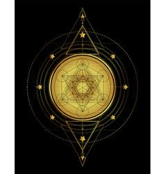 lotus and sacred geometry ayurveda symbol of vector image