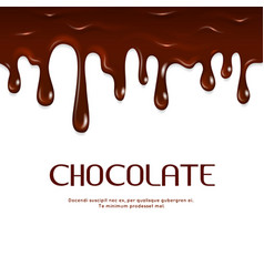 Melted dripping chocolate seamless vector