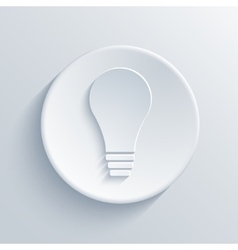 modern light bulb icon background vector image