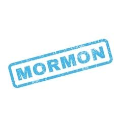 Mormon Rubber Stamp vector