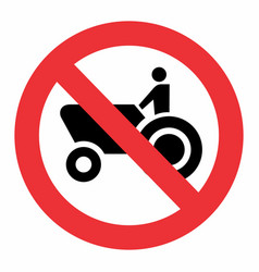 No agricultural machinery traffic sign vector
