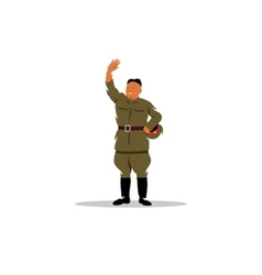 North Korean soldier in uniform sign vector