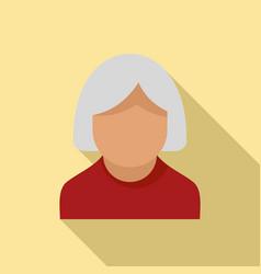 nursing elderly icon flat style vector image