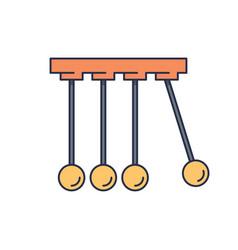 physics icon symbol isolated on white background vector image