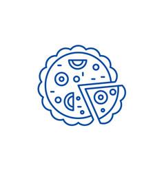 pizza line icon concept pizza flat symbol vector image
